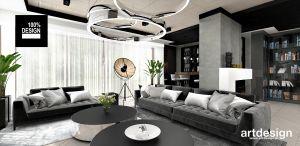Przestrzeń dzienna apartamentu - salon. Projekt i wizualizacja: ARTDESIGN biuro projektowe