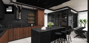 Otwarta kuchnia w apartamencie. Projekt i wizualizacja: ARTDESIGN biuro projektowe