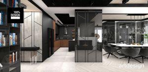Nowoczesny apartament. Projekt i wizualizacja: ARTDESIGN biuro projektowe