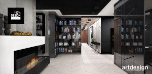 Biblioteczka we wnętrzu. Projekt i wizualizacja: ARTDESIGN biuro projektowe