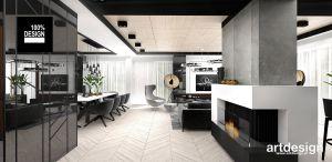 Przestronne wnętrze apartamentu. Projekt i wizualizacja: ARTDESIGN biuro projektowe