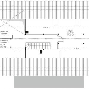 Rzut poddasza. Dom Wymarzony 5. Projekt: arch. Michał Gąsiorowski. Fot. MG Projekt