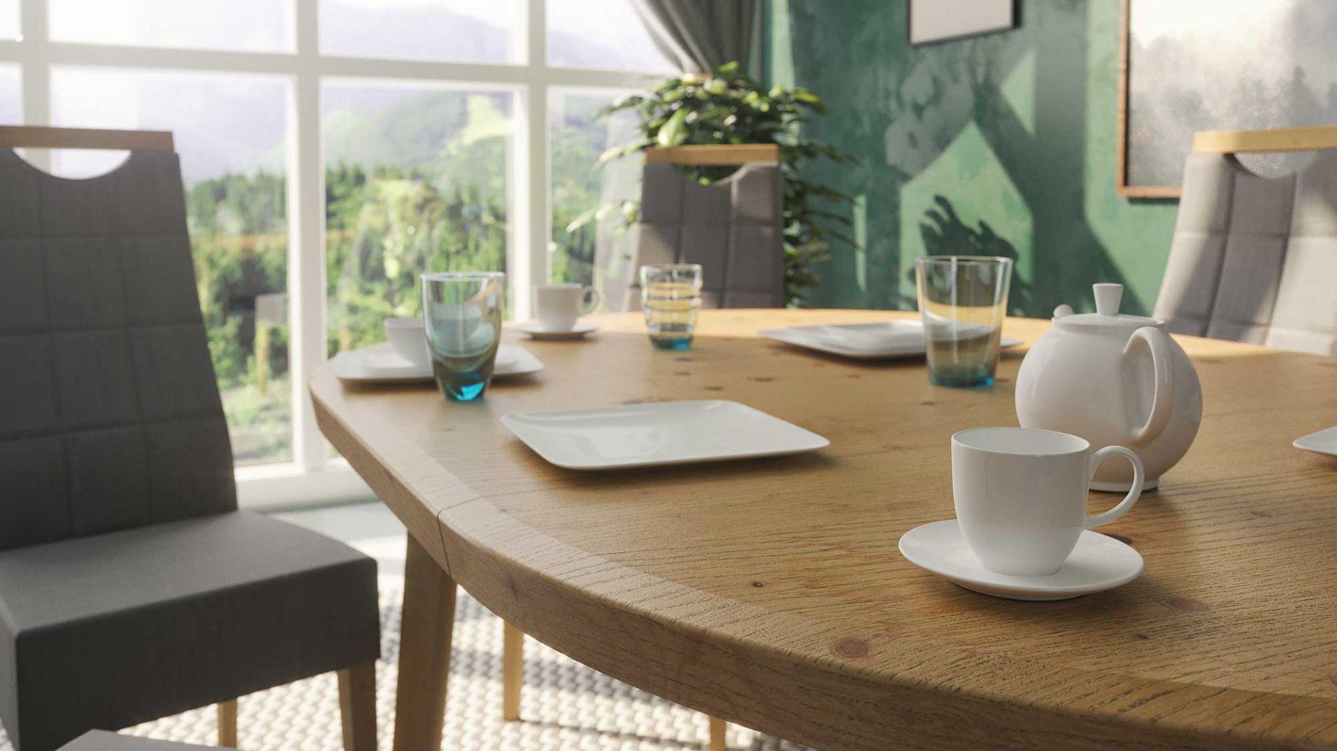 Stół Tondo i krzesła Arco marki Paged Meble. Fot. Paged