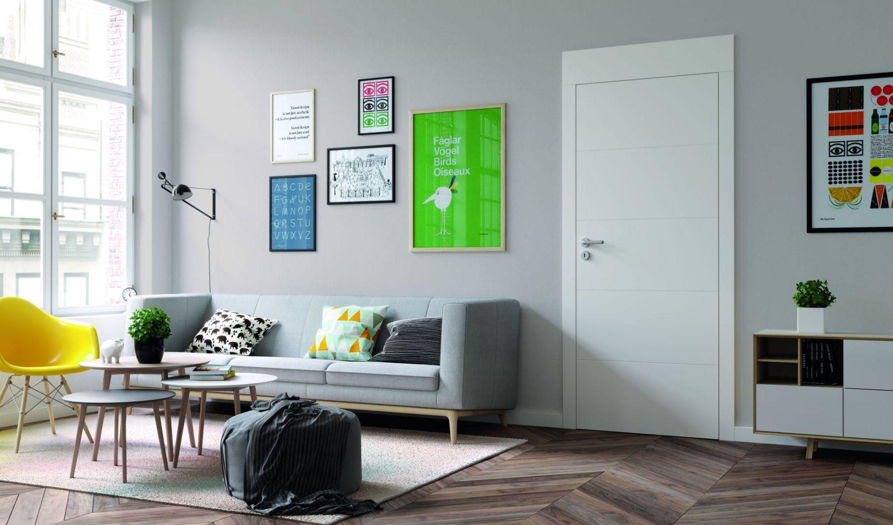 Aranżacja wnętrza - modne drzwi wewnętrzne. Fot. Porta