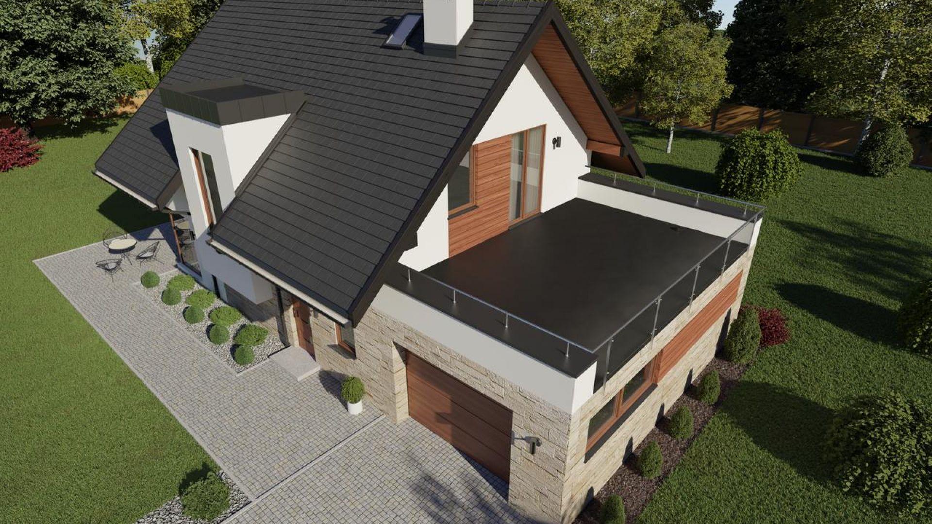 Dach płaski - wybieramy pokrycie dachowe: membranę EPDM. Fot. Galeco