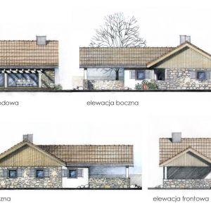 Elewacje domu. Dom N13. Projekt: arch. Sylwia Strzelecka. Fot. S&O Projekty Sylwii Strzeleckiej
