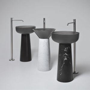 Albume – seria umywalek stojących, która swój dekoracyjny charakter zawdzięcza właściwościom tworzywa Cristalmood. Fot. Antonio Lupi
