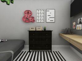 Opracowano kilka możliwych wariantów aranżacji sypialni. Projekt i wizualizacje: Dominika Wojciechowska (NIDUS Interiors)
