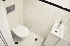 Toaleta dla gości. Projekt i zdjęcia: Dominika Wojciechowska (NIDUS Interiors)