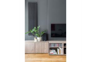 Nowoczesne i funkcjonalne mieszkanie dla rodziny. Projekt: Dominika Wojciechowska (NIDUS Interiors). Fot. Pion Poziom