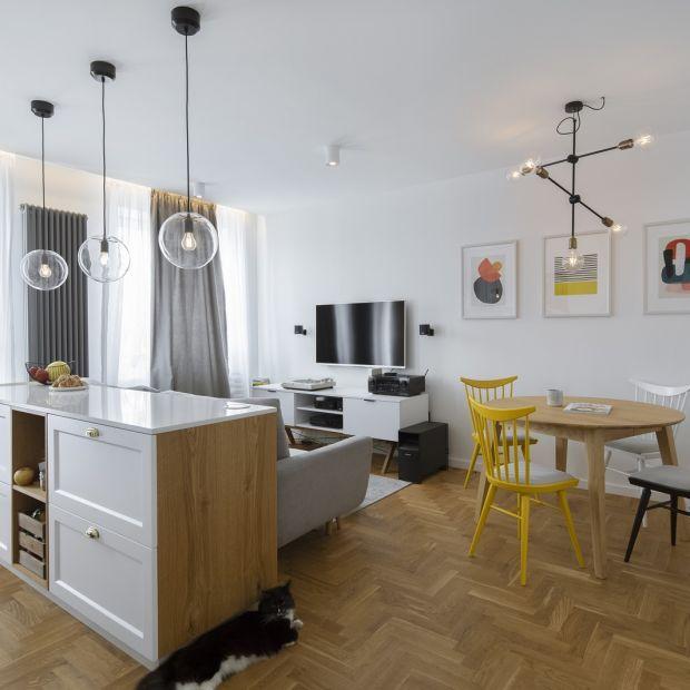 Przytulne i jasne mieszkanie w kamienicy - zobacz odnowione wnętrze