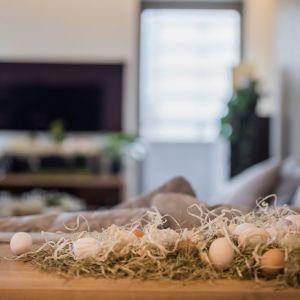 Wielkanocne aranżacje wnętrza. Projekt i zdjęcia: Pracownia Kodo