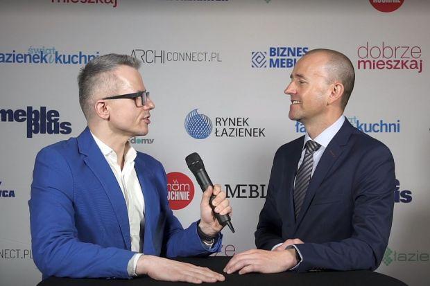 Adam Ptasiński o nowym projekcie Synage na Forum Branży Łazienkowej i Kuchennej