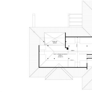 Rzut poddasza. Dom Willa parterowa 2. Projekt: arch. Michał Gąsiorowski. Fot. MG Projekt