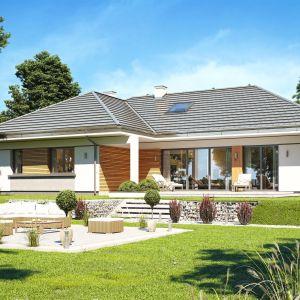 Projekt domu Willa parterowa 2 jest idealny dla Inwestorów zamierzających budować dom o powierzchni użytkowej do 140 m2 + garaż. Dom Willa parterowa 2. Projekt: arch. Michał Gąsiorowski. Fot. MG Projekt