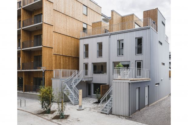 Zrównoważone budownictwo - ciekawy budynek z fasadą ze stali