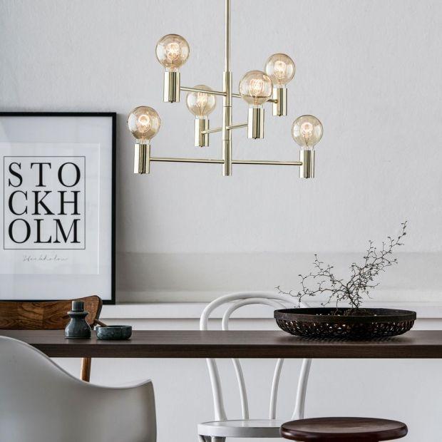 Nowoczesne oświetlenie. Lampy i żyrandole w stylu skandynawskim