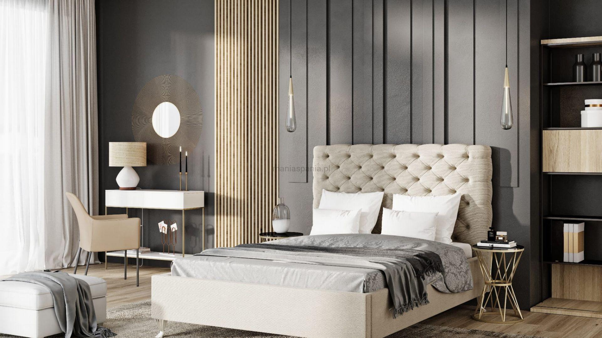 Sypialnia w stylu glamour. Fot. Sklep Mania Spania