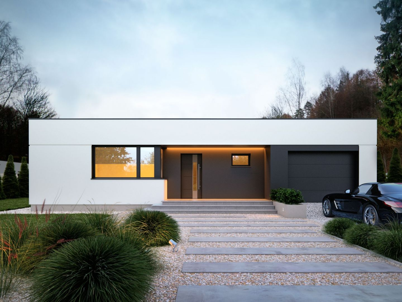 Igo 2 to ciekawy projekt domu nowoczesnego, który zasługuje na uwagę zarówno pod względem funkcjonalnym, jak i estetycznym. Dom Igo 2. Projekt i zdjęcia: Archetyp