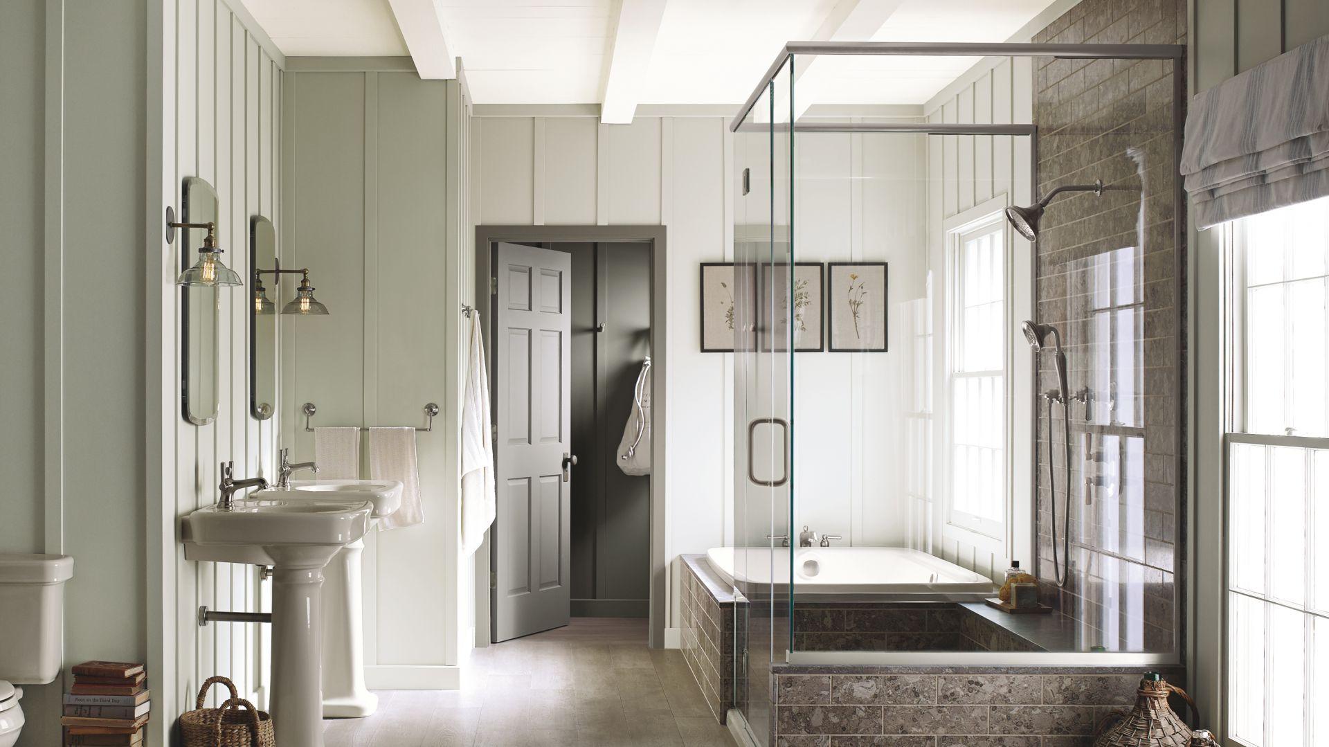 Stylowa łazienka Farba Zamiast Płytek