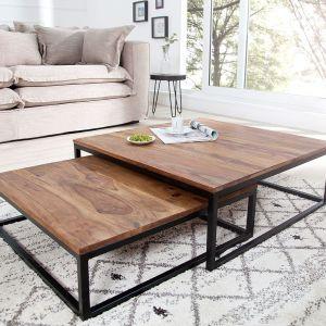 Zestaw 2 drewnianych stolików Tierra. Fot. Interior /Lepukka.pl