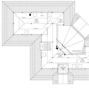 Rzut poddasza. Dom Willa Parkowa 6. Projekt: arch. Michał Gąsiorowski. Fot. MG Projekt