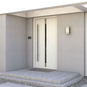 Wykonane z klejonki dębowej, energooszczędne drzwi wejściowe Eco Polar Passive polecane są do domów pasywnych (Ud 0,7 W/m2K - model pełny). Fot. Porta Drzwi