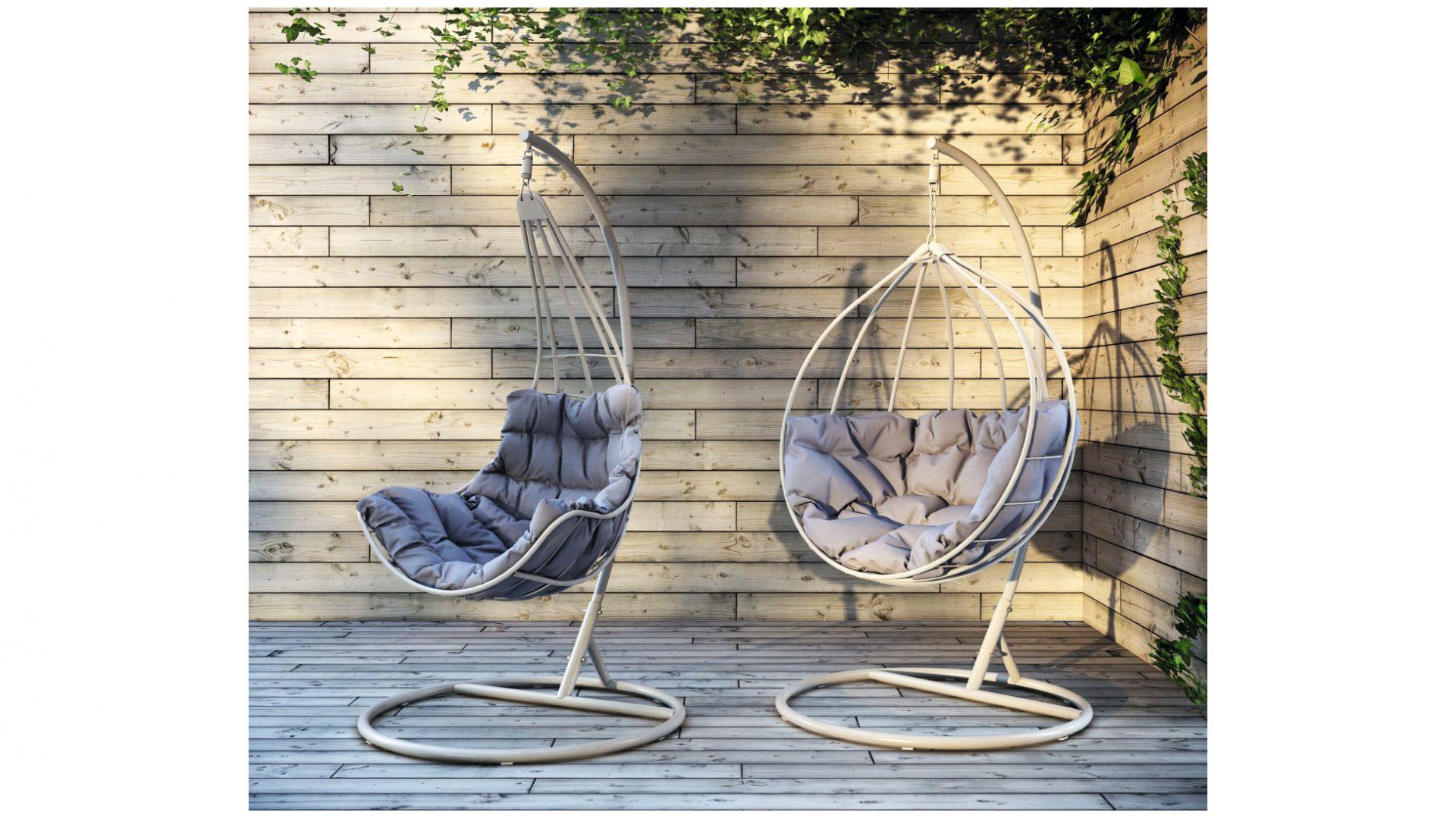Ogrodowe hamaki, czyli fotele Roxy i Rubicon marki Miloo Home. Fot. Miloo Home