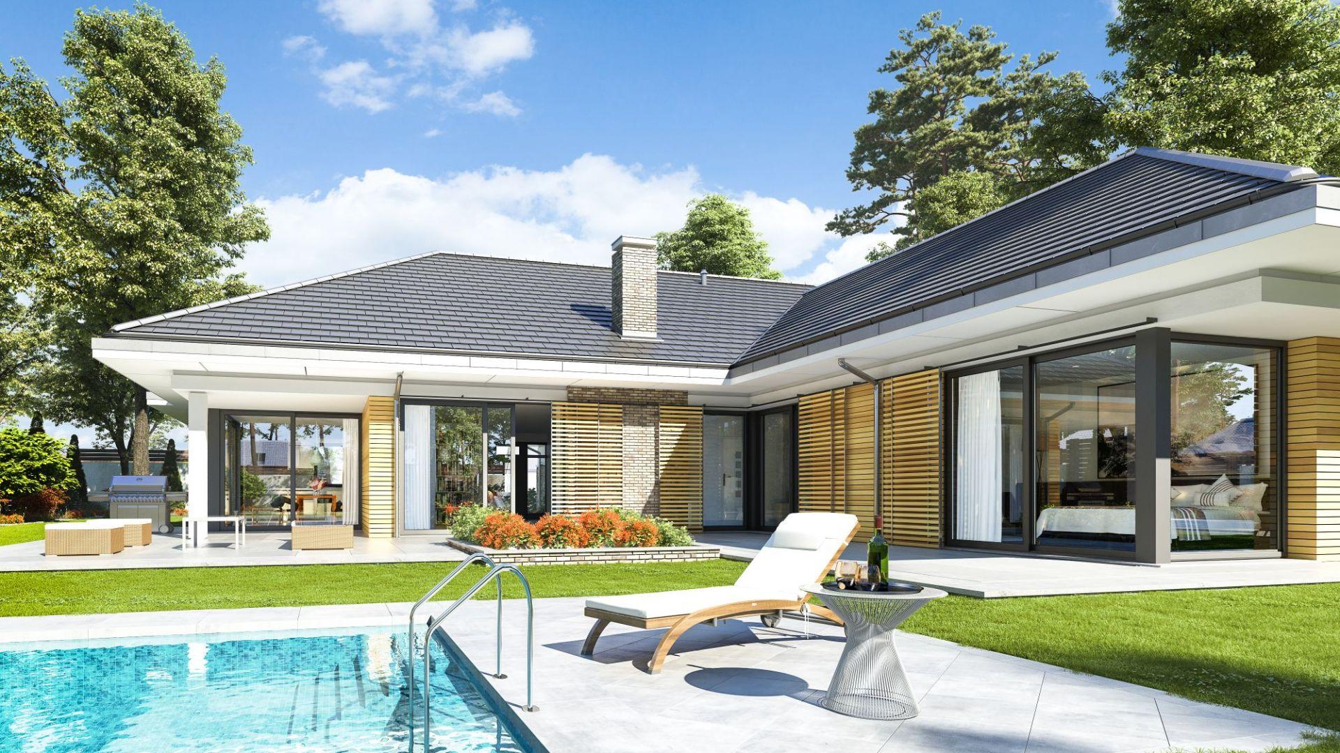 Dom jest energooszczędny, zaprojektowany z nowoczesnych materiałów.Dom Wyjątkowy 22. Projekt: arach. Michał Gąsiorowski. Fot. MG Projekt