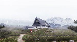 Koncepcja prezentowanego domu opiera się na silnej zależności pomiędzy budynkiem, a otaczającą go przyrodą.