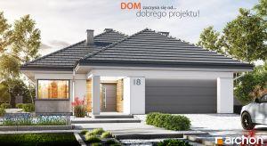 """Efektowny """"Dom w renklodach 2 (G2)"""" to interesująca propozycja z kolekcji projektów domów parterowych, wyróżniająca się praktycznym podziałem stref użytkowania oraz naturalnie doświetlonymi, przestronnymi wnętrzami."""
