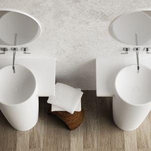Umywalki wolnostojące z kolekcji Febe. Fot. Marmorin Design