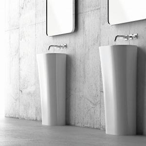 Umywalki wolnostojące z kolekcji Wega. Fot. Marmorin Design