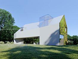 Architekt podjął wyzwanie i stworzył niezwykły, zatopiony w kaszubskim krajobrazie dom, którego forma i funkcja odzwierciedlają pasje inwestora. Projekt i wizualizacje: ANIEA - Andrzej Niegrzybowski architekt