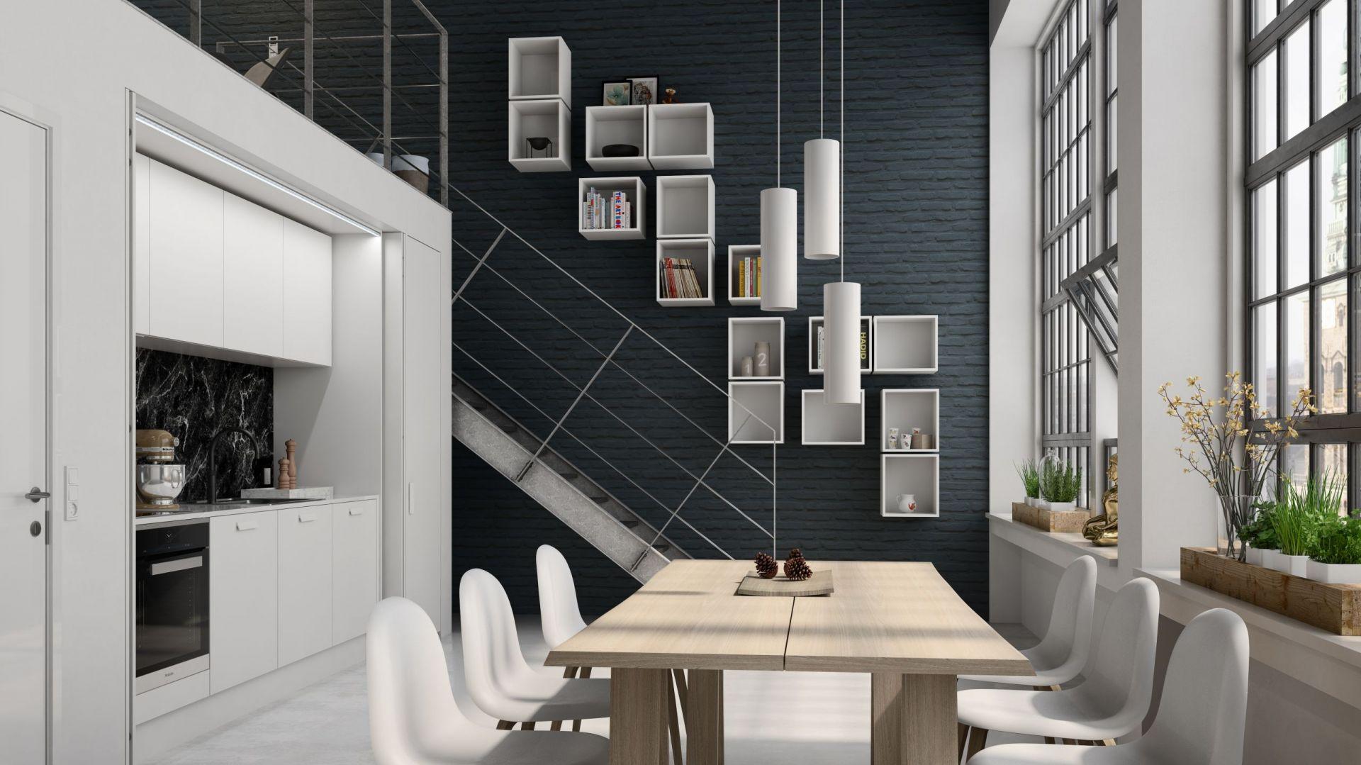 Zaplanowana z myślą o małych przestrzeniach kuchnia Newyorker w całości została ukryta za wysuwanymi z bocznych nisz drzwiami. Fot. Svane