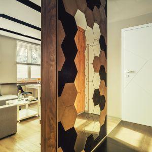 Lustra w kształcie heksagonów nadadzą wnętrzu bardzo oryginalny wygląd. Na zdjęciu: drzwi SENTIS Inez od RuckZuck. Fot. RuckZuck