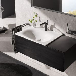 Kolekcja mebli łazienkowych Black Concept marki Keuco. Fot. Keuco