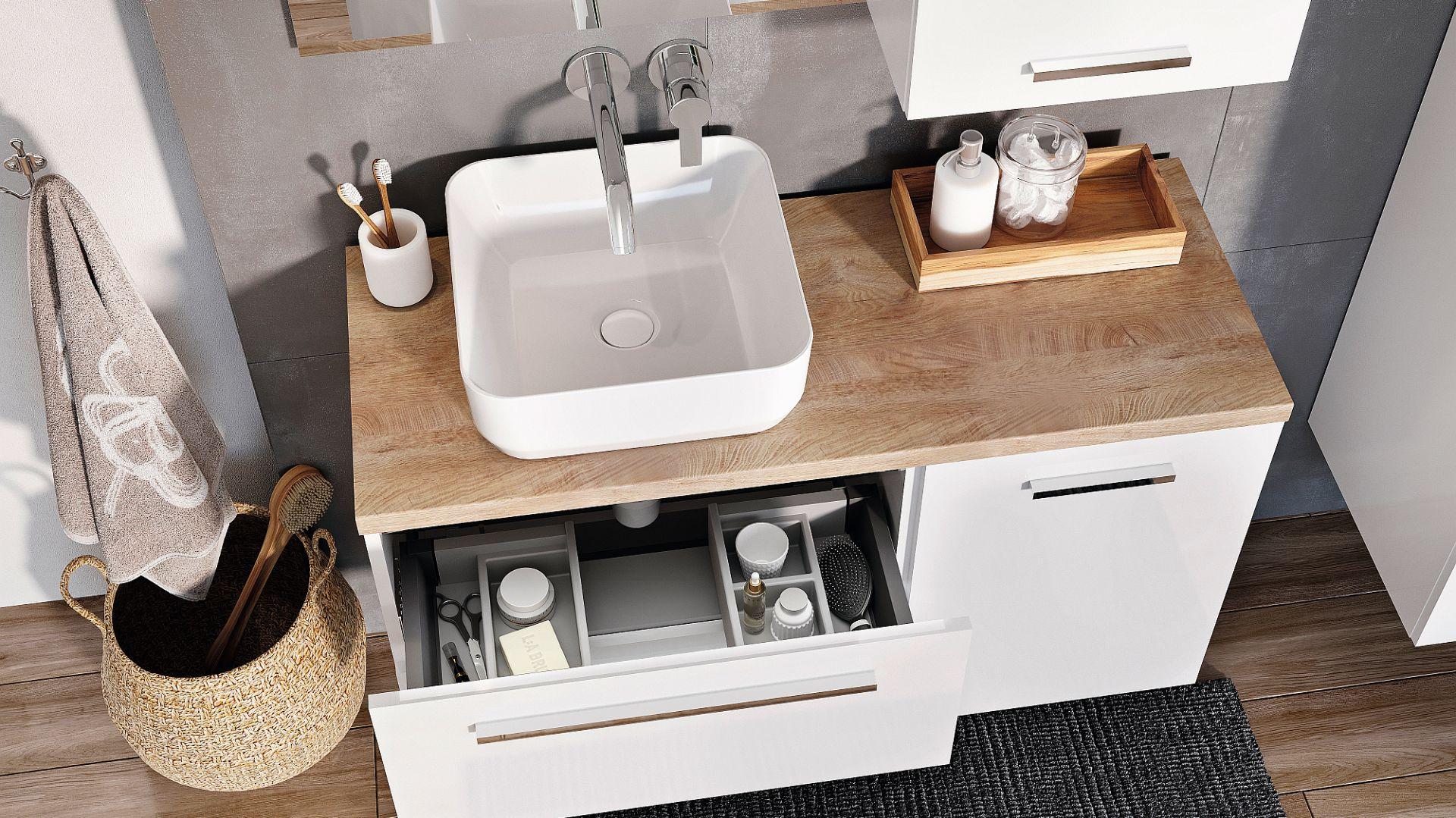 Kolekcja mebli łazienkowych Kwadro Plus marki Elita. Fot. Elita