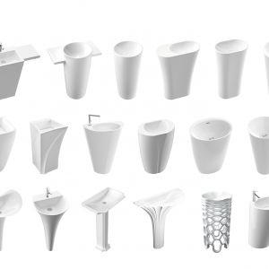 Umywalki stojące z oferty Marmorin Design. Fot. Marmorin Design