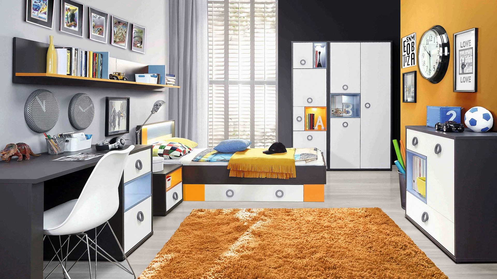 Kolekcja mebli młodzieżowych Colors firmy Forte. Fot. Forte