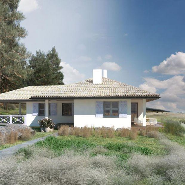 Mały dom. Zobacz projekt 85 metrów