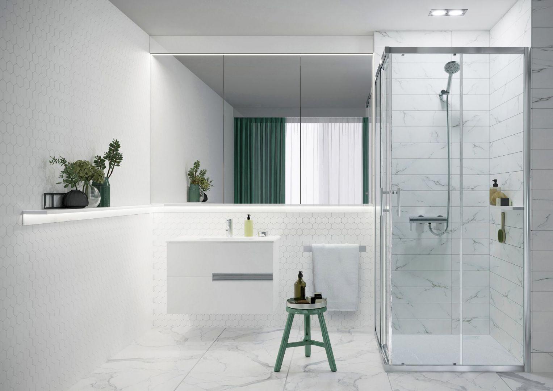 Capital - minimalistyczne kabiny prysznicowe. Fot. Roca