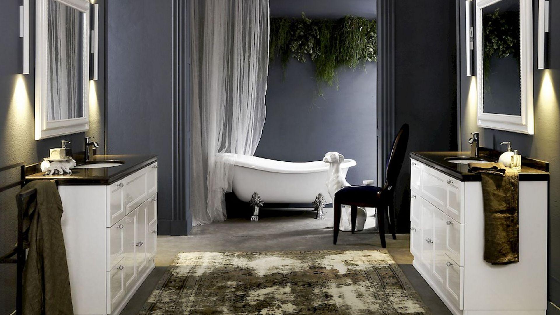 Nowoczesna łazienka - domowe SPA. kolekcja płyt konglomeratowych Noble Athos Brown. Fot. TechniStone