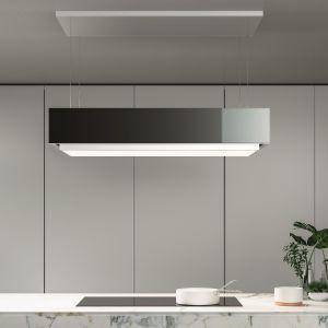 Innowacyjny okap Levante z oświetleniem, system Circle.Tech, który polepsza jakość powietrza kuchni oraz funkcją Up&Down. Fot. Falmec Polska