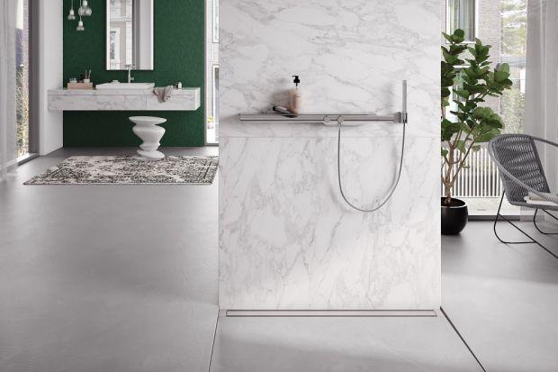 Nowoczesna łazienka - dyskretny odpływ prysznicowy