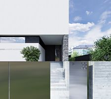 Wejście główne znajduje się na parterze, w północno-wschodniej części planu. Piwnica mieści dwustanowiskowy garaż, korytarz oraz pomieszczenie gospodarcze. Projekt i wizualizacje: ANIEA - Andrzej Niegrzybowski architekt