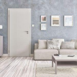 Drzwi Haptic pokryte powierzchnią UNI MAT jedwabistą w dotyku oraz odporną na zabrudzenia; pełne lub z przeszkleniami pozwalającymi doświetlić pomieszczenie. Fot. Pol-Skone