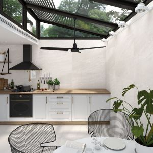 Płytki do kuchni. Kolekcje: Rho blanco - Lambda Blanco. Fot. Vives