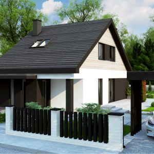 Z468 to projekt tradycyjnego domu z poddaszem użytkowym oraz dachem dwuspadowym o powierzchni użytkowej 115 m2. Projekt i zdjęcie: Z500