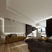 Projekt aranżacji wnętrz 95-metrowego apartamentu w kompleksie Sea Towers. Projekt i wizualizacje: ANIEA - Andrzej Niegrzybowski architekt